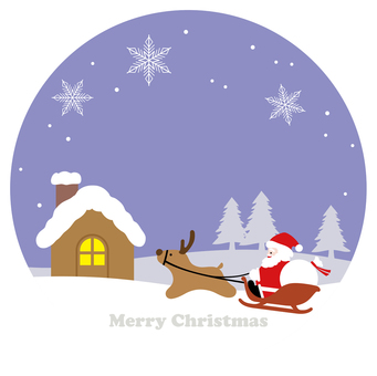 Christmas round background illustration