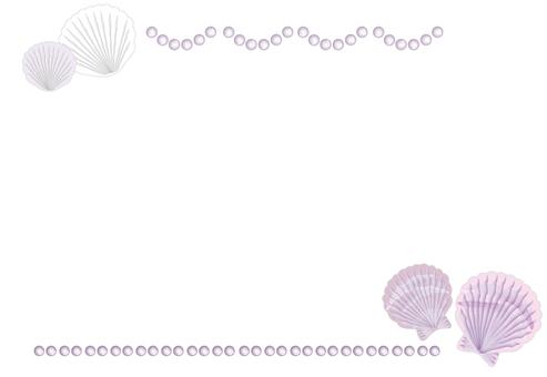 貝殻 フレーム