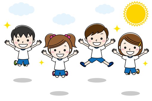 孩子們健身房衣服跳01