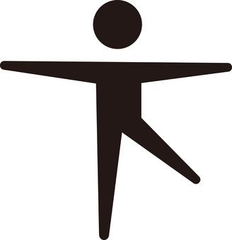 Human ☆ Pictogram (one foot standing) balance