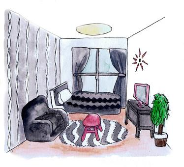 Gray stylish room
