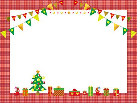 檢查框架紅色聖誕節
