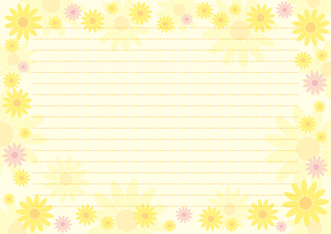Letter pad 16 flowers