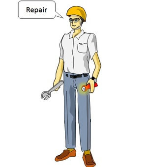 Worker to repair