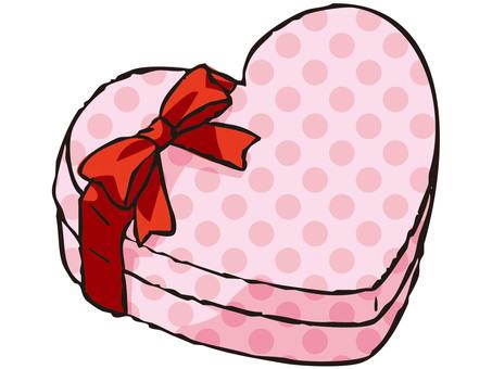 Heart's present box (dot)