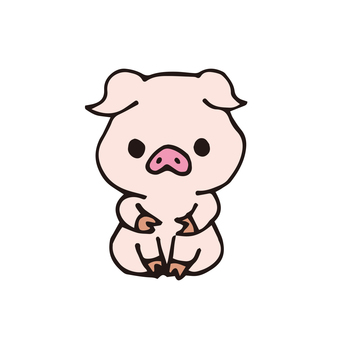 돼지 씨 (정면 착석)