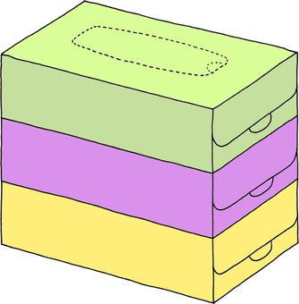 Tissue three steps (no character)
