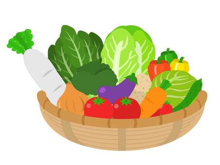Assorted vegetable basket