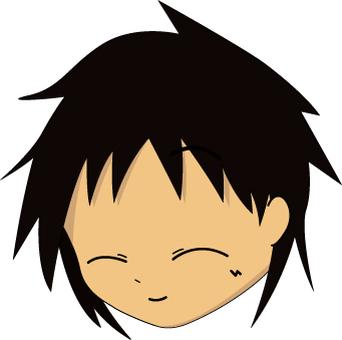 男の子の顔(笑顔)