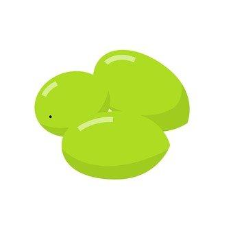 Green olive fruit