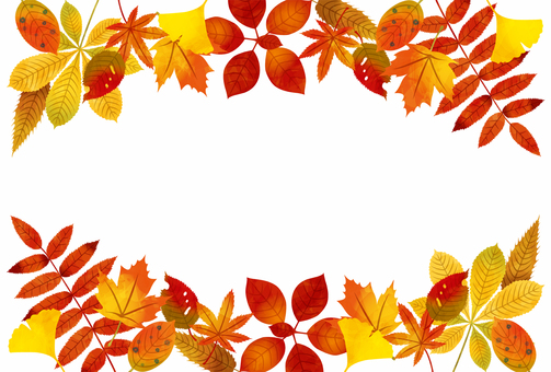 Autumn / autumn leaves · yellow leaves frame