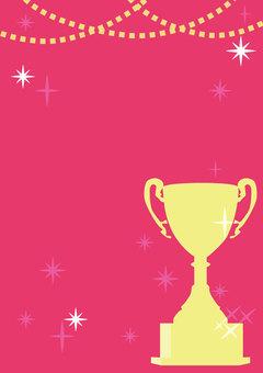 Trophy poster (pink)