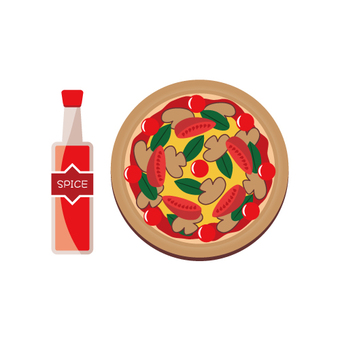 Image of pizza and spice