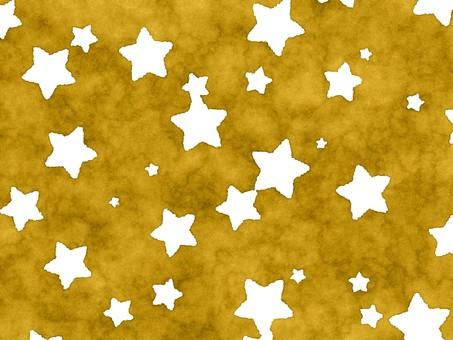Watercolor wind scattering golden star blank white