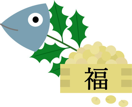 Hibari sardine and soybean sutanari amulet