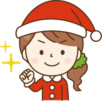 Santa's lady who poses guts