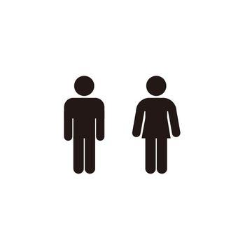 ピクトグラム トイレ 黒