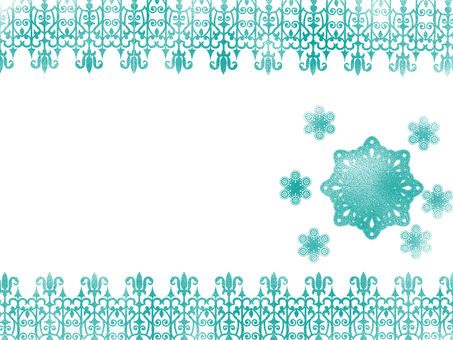 Lace-shaped card