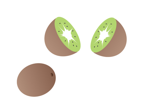 Kiwifruit cut
