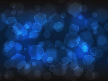 六角形光·深蓝色