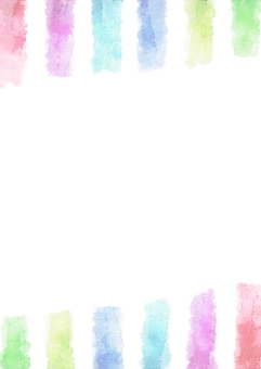 Vertical stripe of watercolor painting · Vertical of central white · Rainbow