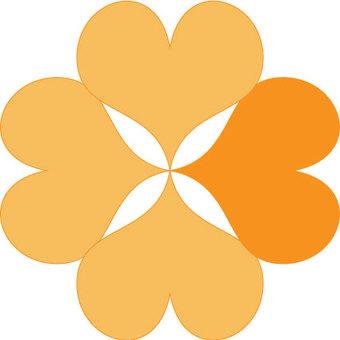 네잎 클로버 아이콘 _ 오렌지 옐로우