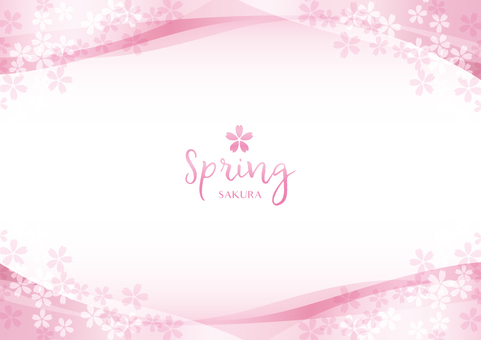 Spring background frame 024 Cherry transparent feeling