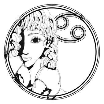 12星座シンボル【蟹座】