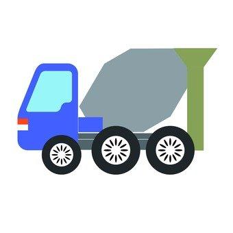 Concrete mixer car