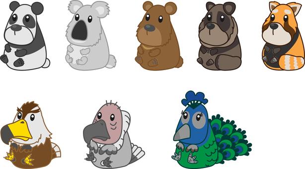 Zoo animals set 4