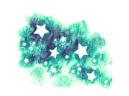 Hand-drawn star Green