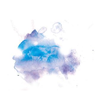 Aqua bleeding with watercolor