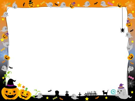 Halloween frame ghost 2