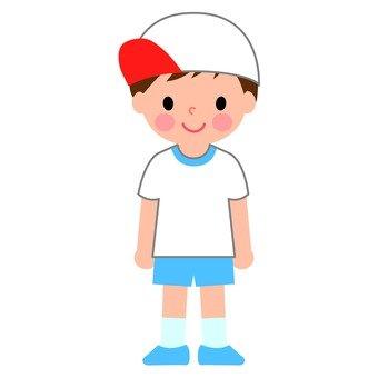A gym wearing a boy