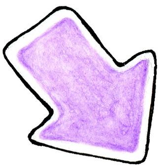 Purple watercolor arrow