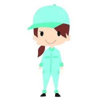 작업자 여성