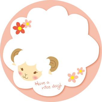 Memo style sheep 001