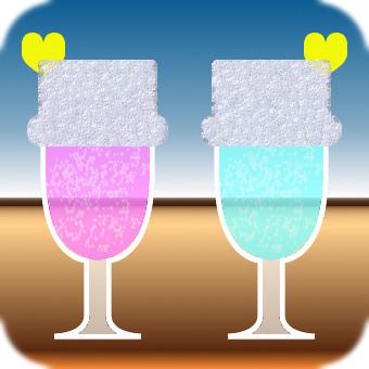 Pair drink (pink × blue)