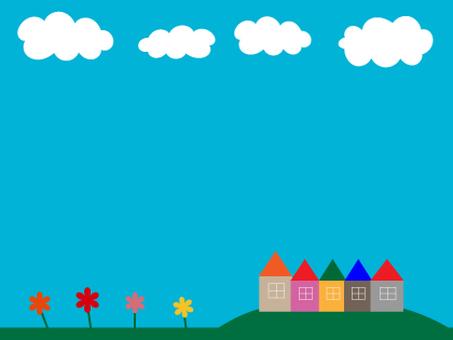 在藍天下的房子