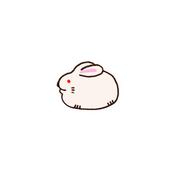 It is an illustration of a rabbit