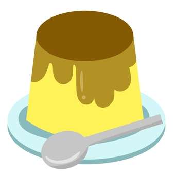 Pudding on a plate ②