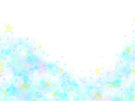 Hand-painted watercolor star cloud frame / light blue