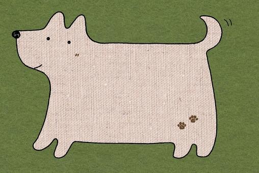 Dog's message board (hemp / green)
