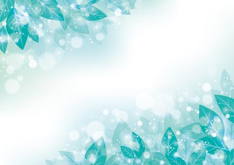 綠葉框架03