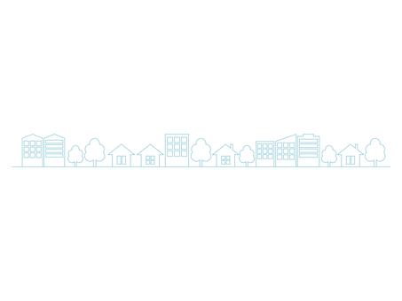 도시 거리 선 파랑