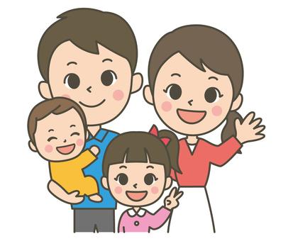 Family of four (girl)