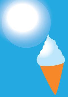 맑은 날의 소프트 아이스크림 A4