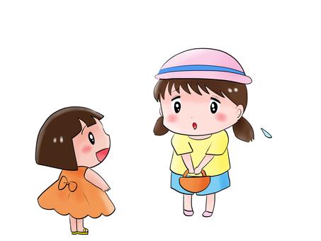 Big girl and little girl