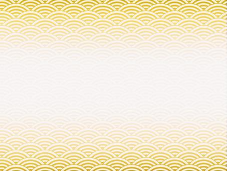 Japanese Pattern Yellow Sea Wave Pattern Background