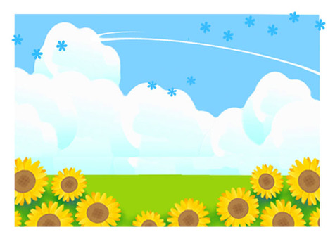 Summer / sunflower frame